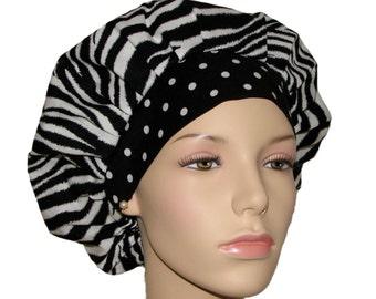 Scrub Hats - Wild Side Zebra And Polka Dots