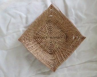Square Pine Needle Basket, #54