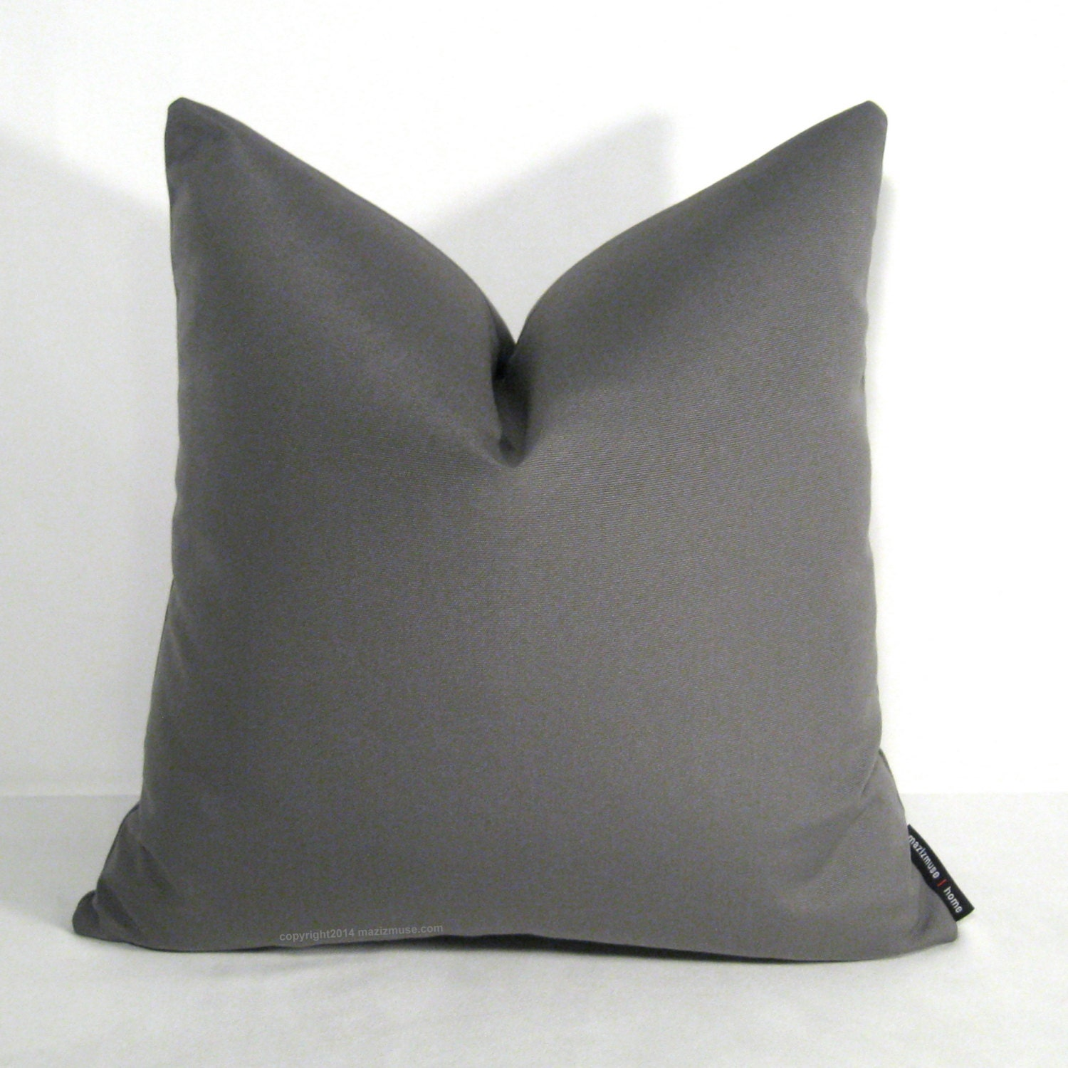 Gray OUTDOOR Pillow Cover Modern Grey Pillow Charcoal by Mazizmuse