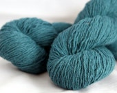 Blue Green Recycled Wool Blend Yarn, Lace Weight Yarn - 561 Yards