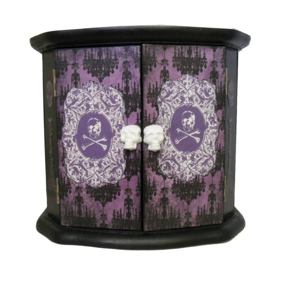gothic home decor gothic cabinet skull decor by
