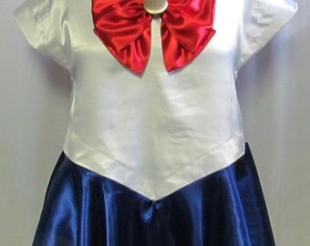 Plus Size Cosplay Costume Sailor Moon Costume Cosplay Adult Women's Custom Fit Plus Size 16 18 20 22 24