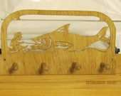 FISH That GOT AWAY  Scroll Saw Key Rack