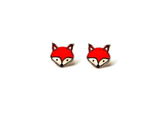 Lil' Foxes, Stud Earrings