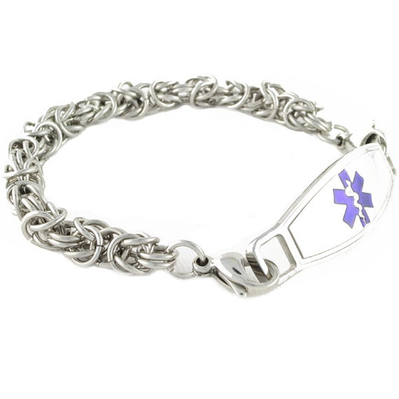 Medical Bracelets Bali Link Stainless Steel