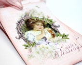 4 Vintage Style Easter Blessings -Hangers - Journaling - Lunch Notes - Bookmark - Gift Basket - Present