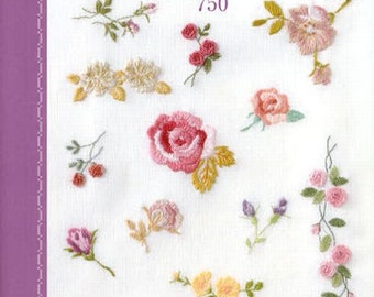 One Point Embroidery Best Stitch 750 Pattern, Japanese Craft Book, Fairy Tales, Animal, Border, Flower Motif, Easy Embroidery Tutorial, B961