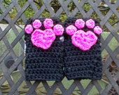 Fingerless Mitts for Hello Kitty Fans Cheshire Cat Fans or just cat lovers FREE SHIPPING