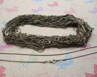 Get 25pcs of our antique bronze Plated/ Snake Chain Necklaces/Jewelry supply/17 inch
