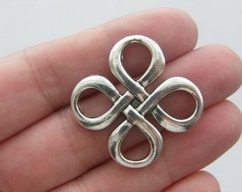 6 Celtic knot antique silver tone R40