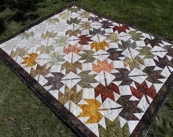 Leaves are falling quilt, autum colors