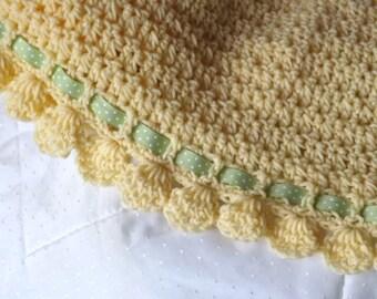 Crochet Pattern - Blanket Afghan Pattern - Summer Breeze - Perfect for Spring