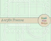 Digital Acrylic Frames for Digiscrapping - 9 Frames in png format