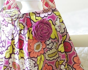 SALE-Designer Nursing Cover with Flower and Pleated Detail, One-size fits all (Bespoken)