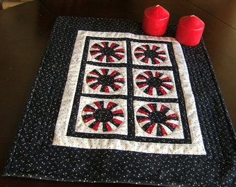 Red White and Blue Miniature Wall Hanging or Table Topper