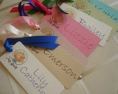 Personalized Bookmark  for the Birthday Party (this was a Judy Moody party)