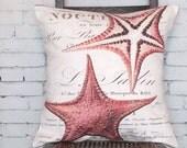 Pillow Cover Coral Starfish Beach Decor