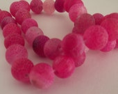 1 strand Pink Dragon Vein 10mm Beads-Approx 38 beads