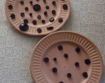 Vintage Black Buttons 2 Paper Plate Collections