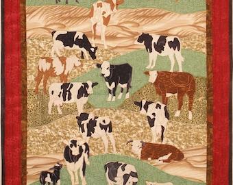 Cows, Machine Applique Pattern by Debora Konchinsky, Critter Pattern Works