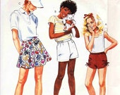Easy McCalls 2544 Girls 3 style Shorts designs 80s sew pattern
