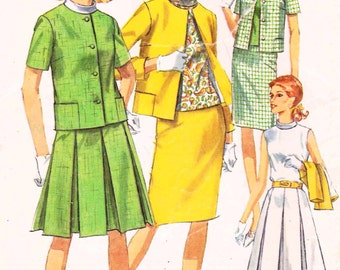 Simplicity 6888 Vintage 60s Mod Vintage Dress with Jacket 2 Piece Suit