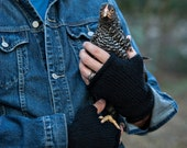 All-Purpose Fingerless Gloves, Man-Sized--Black