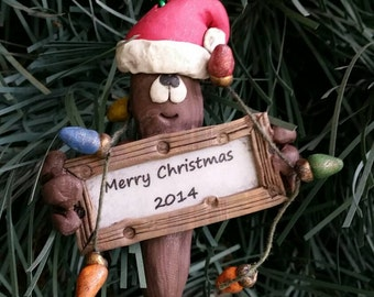 Christmas poop ornament personalized