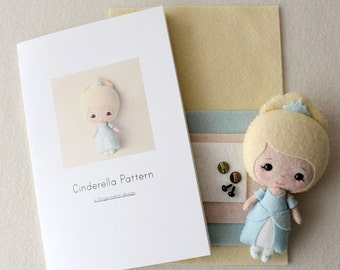 Cinderella Pattern Kit - Fair Skin, Blue Dress