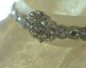 aAbigail Bridal Dress Gown Beaded Jeweled Crystal Belt Sash