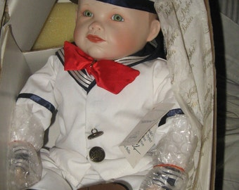 """VTG 1987 """"Matthew"""" Yolanda's Picture Perfect Baby Porcelain Doll new in box"""