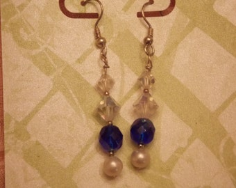 Upcycled earrings made from Vintage Beads