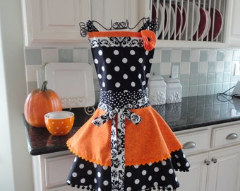 Witches Brew ~ Women's Halloween Apron, Fall, Thanksgiving Apron - Annabelle Style ~ 4RetroSisters