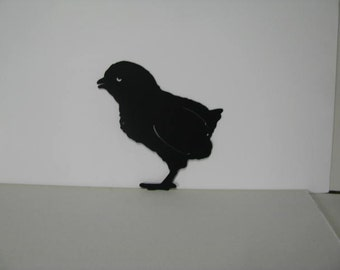 Baby Chick 007 Metal Wall Yard Art Silhouette