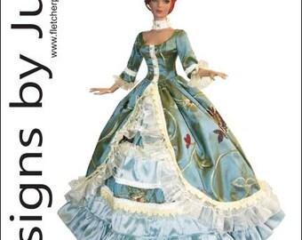 PDF Opulent Gown Pattern for Tyler Wentworth Dolls Tonner