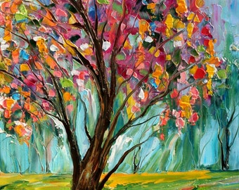 Fine Art Print from oil painting by Karen Tarlton - Spring Tree of Life