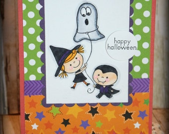 Happy Halloween Handmade Greeting Card