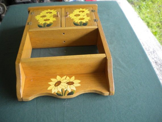 Like this item. wooden cabinet acrylic painting sunflower painting
