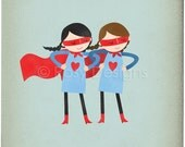 Super Duper Girls - Customizable 8x10 Archival Art Print