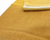 Heirloom Linen Table Runner in Saffron and Ginger