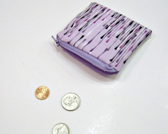 Coin Pouch in Purple, Pink, Black and White