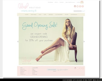 Ecommerce Web Site Package, Logo Design, Shopping Cart, Business Cards, Boutique Website Template