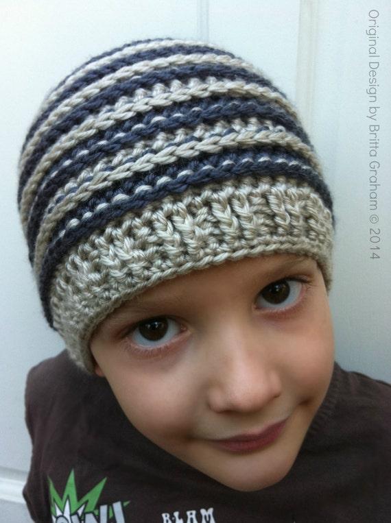 Unisex crochet hat pattern Ribbed Beanie P306 using DK