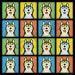 Siberian Husky Cartoon Pop-Art T-Shirt Tee - Men's, Women's Ladies, Short, Long Sleeve, Youth Kids