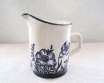 Sango Japan Design Four Stoneware Summer Glen Vintage Creamer Blue Flowers