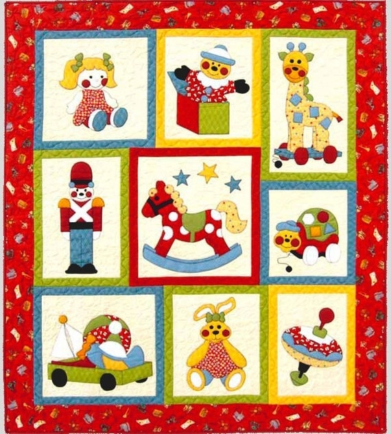 Ye Olde Toy Shop Quilt Pattern Cute Children S Applique