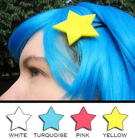 Ramona Flowers Star Hair Clip  - Scott Pilgrim 4 Colors Available Yellow Turquoise Pink White