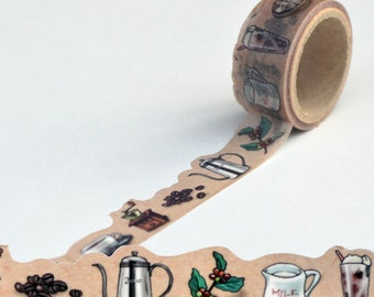 Coffee Yano design debut series washi tape 20mm x 5M