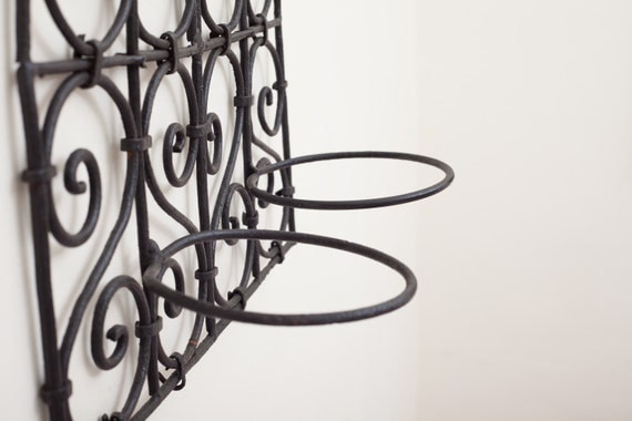 Wrought Iron Hanging Plant Wall Sconce Or Hanger
