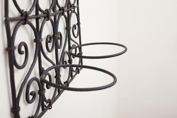 Metal Wall Sconces For Plants : Wrought iron hanging plant wall sconce or hanger